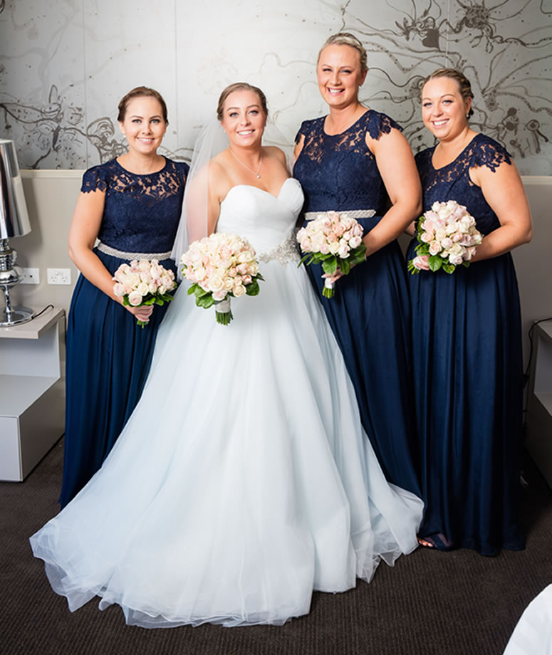 Bride & Bridesmaids